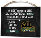 Baylor Bears Small Plaque - Best Things