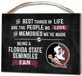 Florida State Seminoles Small Plaque - Best Things
