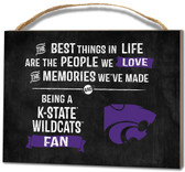 Kansas State Wildcats Small Plaque - Best Things