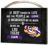 LSU Tigers Small Plaque - Best Things