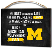 Michigan Wolverines Small Plaque - Best Things