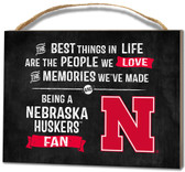 Nebraska Cornhuskers Small Plaque - Best Things