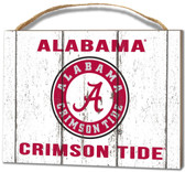 Alabama Crimson Tide Small Plaque - Weathered Logo