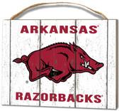 Arkansas Razorbacks Small Plaque - Weathered Logo