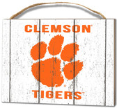Clemson Tigers Small Plaque - Weathered Logo