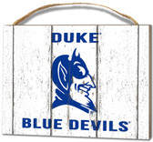 Duke Blue Devils Small Plaque - Weathered Logo