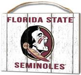 Florida State Seminoles Small Plaque - Weathered Logo