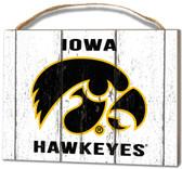 Iowa Hawkeyes Small Plaque - Weathered Logo