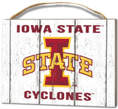 Iowa State Cyclones Small Plaque - Weathered Logo