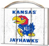 Kansas Jayhawks Small Plaque - Weathered Logo