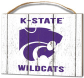 Kansas State Wildcats Small Plaque - Weathered Logo