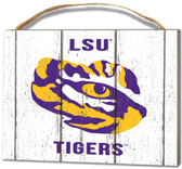 LSU Tigers Small Plaque - Weathered Logo