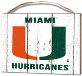 Miami Hurricanes Small Plaque - Weathered Logo