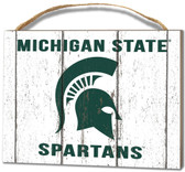 Michigan State Spartans Small Plaque - Weathered Logo