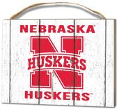 Nebraska Cornhuskers Small Plaque - Weathered Logo