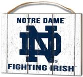 Notre Dame Fighting Irish Small Plaque - Weathered Logo