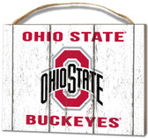 Ohio State Buckeyes Small Plaque - Weathered Logo