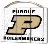 Purdue Boilermakers Small Plaque - Weathered Logo
