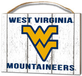 West Virginia Mountaineers Small Plaque - Weathered Logo
