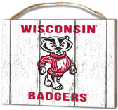 Wisconsin Badgers Small Plaque - Weathered Logo