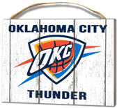 Oklahoma City Thunder Small Plaque - Weathered Logo