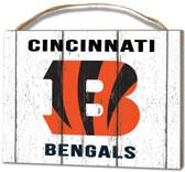 Cincinnati Bengals Small Plaque - Weathered Logo