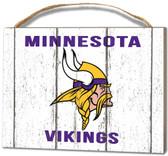 Minnesota Vikings Small Plaque - Weathered Logo