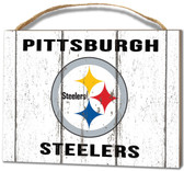 Pittsburgh Steelers Small Plaque - Weathered Logo