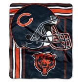 Chicago Bears Blanket 50x60 Raschel Touchback Design