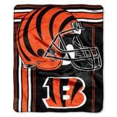 Cincinnati Bengals Blanket 50x60 Raschel Touchback Design