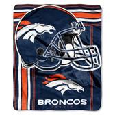 Denver Broncos Blanket 50x60 Raschel Touchback Design