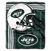 New York Jets Blanket 50x60 Raschel Touchback Design