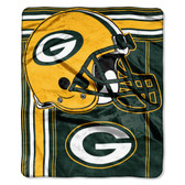 Green Bay Packers Blanket 50x60 Raschel Touchback Design