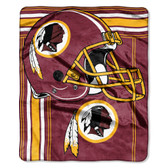Washington Redskins Blanket 50x60 Raschel Touchback Design