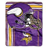Minnesota Vikings Blanket 50x60 Raschel Touchback Design