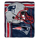 New England Patriots Blanket 50x60 Raschel Touchback Design