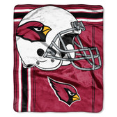 Arizona Cardinals Blanket 50x60 Raschel Touchback Design