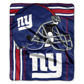 New York Giants Blanket 50x60 Raschel Touchback Design