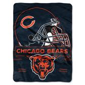 Chicago Bears Blanket 60x80 Raschel Prestige Design