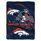 Denver Broncos Blanket 60x80 Raschel Prestige Design