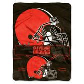 Cleveland Browns Blanket 60x80 Raschel Prestige Design