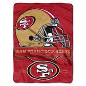 San Francisco 49ers Blanket 60x80 Raschel Prestige Design
