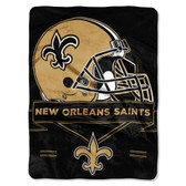 New Orleans Saints Blanket 60x80 Raschel Prestige Design
