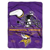 Minnesota Vikings Blanket 60x80 Raschel Prestige Design