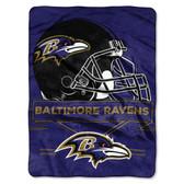 Baltimore Ravens Blanket 60x80 Raschel Prestige Design
