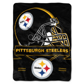 Pittsburgh Steelers Blanket 60x80 Raschel Prestige Design