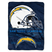 San Diego Chargers Blanket 60x80 Raschel Prestige Design