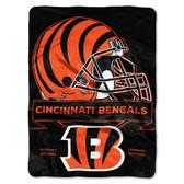 Cincinnati Bengals Blanket 60x80 Raschel Prestige Design