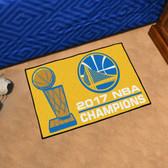 "Golden State Warriors 2017 NBA Champions Starter Rug 19"" x 30"""