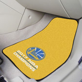"Golden State Warriors 2017 NBA Champions2-pc Carpeted Car Mats 17""x27"""